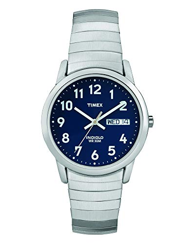 Timex Men's T20031 Easy Reader 35mm Silver-Tone Stainless Steel Expansion Band Watch