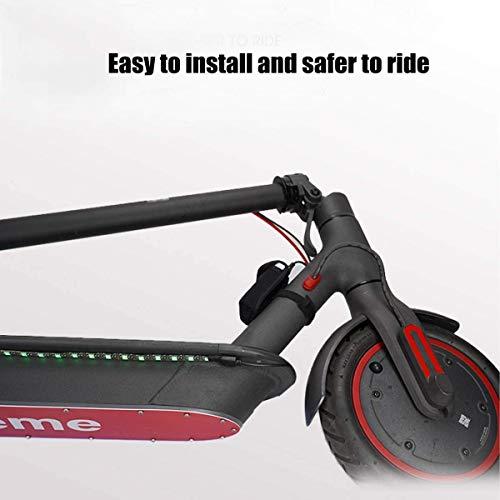 Linghuang Roller Warnung LED Streifen Taschenlampe Lampe Nacht Licht Radfahren Sicherheit Vorsicht Dauerblinklicht für Xiaomi Mijia M365 M187 Kickscooter Roller Teile Zubehör - 2