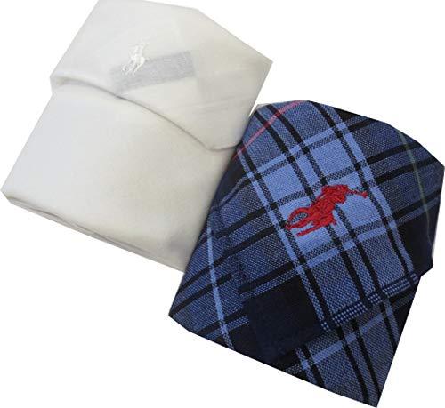[ポロ ラルフローレン] Polo Ralph Lauren メンズ ハンカチ タオルハンカチ2枚 ポロ刺繍 専用箱入り