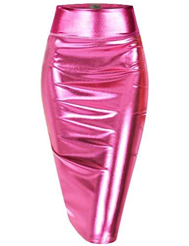 Hybrid & Company Womens Pencil Skirt for Office Wear KSK43584 3823 Pink XL