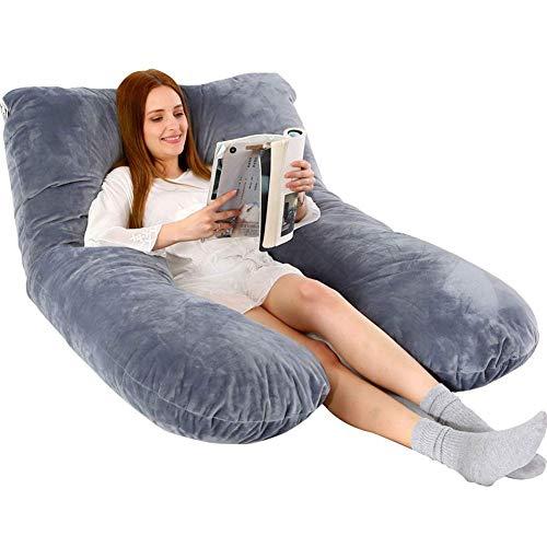 Pregnancy Body Pillow Memory Foam U-Shape Full Body Pillow Maternity The Best Full Body Contoured Pillow with Ultra Soft Microfiber Cover 70x130cm
