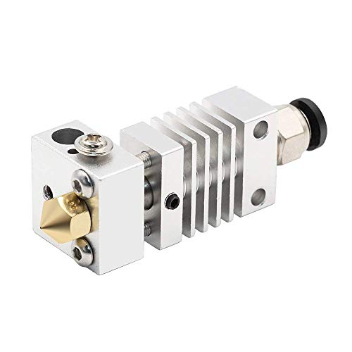 1pc CR10 Hotend Extruder Long Distance Titanium Alloy Thermal Heat Break Throat for Creality CR-10 3D Printer Micro Swiss (Color : Silver)