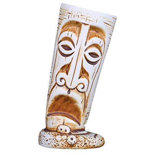 Cabilock Copas de Cóctel Tiki Tazas de Cerámica para Fiestas Hawaianas Vintage Aloha Vasos de Cóctel Exóticos para MAI Tai Punch Piña Colada