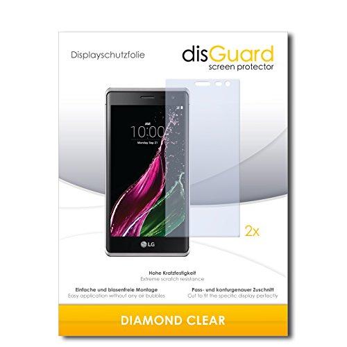 disGuard 2 x Bildschirmschutzfolie LG Zero Schutzfolie Folie DiamondClear unsichtbar