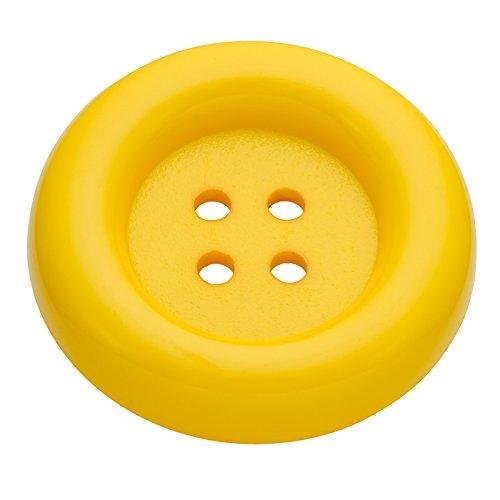 Exklusive Knöpfe Karnevalsknopf aus Kunststoff in Gelb 70mm