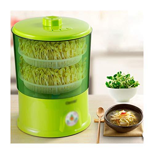 2 couches de germes de haricots intelligents à la maison automatique intelligent haute capacité de soja germes de haricots verts multifonction
