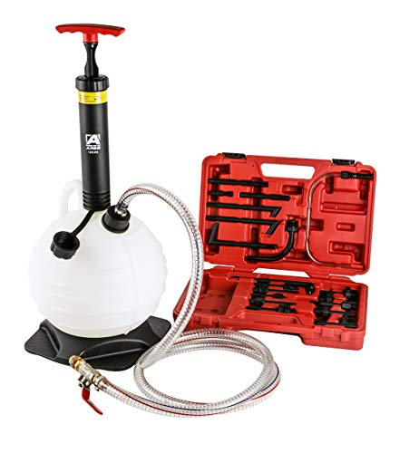 ARES 12026 - ATF Refill Kit - 6L Manual Pump for Automatic Transmission Fluid - Includes 20-Piece Adapter Set - Works with Most Common Automatic Transmission Systems
