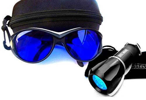 NITE-HAWK golf gadget - NITEHAWK Kurzwellenlicht + Ballfinder Brille, Blau