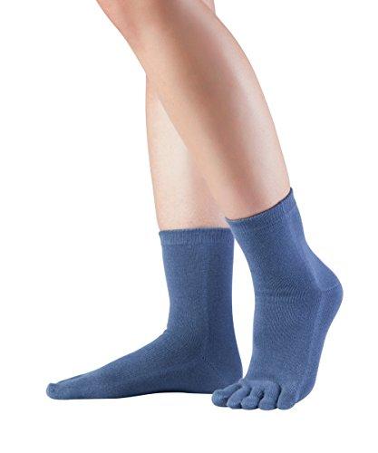 Knitido Essentials Midi, halb hohe Zehensocken aus 85prozent Baumwolle, für jeden Tag, für Damen & Herren, Größe:39-42, Farbe:Dull Blue (802)