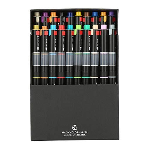 Elegante viltstiften Premium aquarel stiftset Magic Color Change Pen met dubbele borstelpunt voor het tekenen van kalligrafie schrijven #04