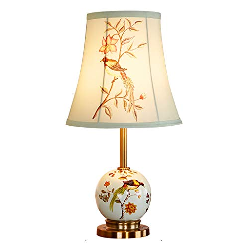 Tingting1992 Lámpara de mesita de Noche Sencilla lámpara de Mesa de cerámica Creativa Dormitorio Lámpara de cabecera Sala de Estar Estudio Lámpara de Mesa Tres Modos de Interruptor Lámpara de Mesa