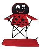 Mojawo Kinder Anglersessel rot/schwarz Campingstuhl Faltstuhl Anglerstuhl Motiv Marienkäfer mit Getränkehalter und Tasche