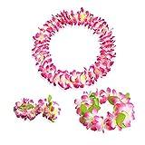 xinying Pulsera 4 unids/set moda verano hawaiano flor collar Halloween diadema pulseras Leis guirnaldas fiesta decoración artificial (color: estilo 4 NO.3)