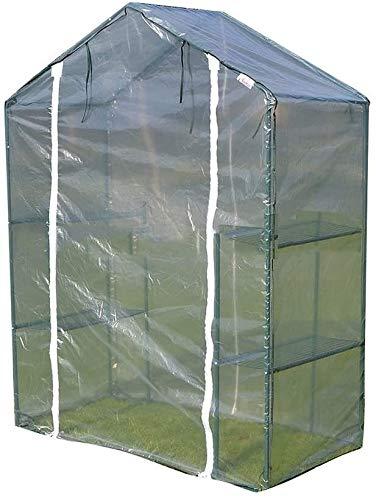 Hyl Invernadero de jardín Invernaderos jardinería doméstica pequeña Carpa Adecuado for su jardín Patio Crecimiento de Flores (Color : Clear, Size : 140x70x195cm)