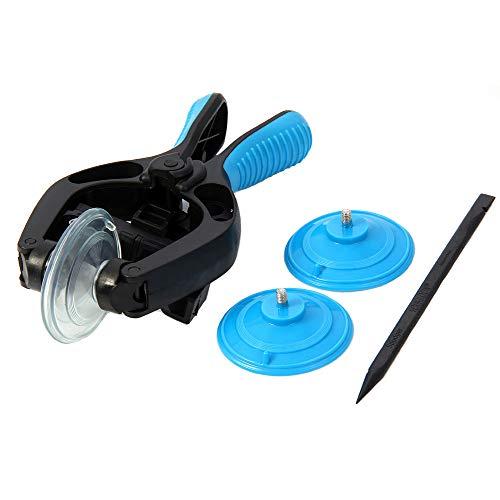 MMOBIEL LCD Bildschirm Öffnung Zange Saugnapf Werkzeug Reparatur geeignet für diverse Tablets und Smartphones (Blau)