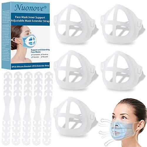 3D Silikon Halterung für Masken, Ohrhaken Maske, 3D-Maskenhalterung, Innenkissen für Masken,...