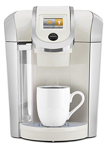 Keurig K475 Coffee Maker, Single Serve K-Cup Pod Coffee Brewer, Programmable Brewer, Sandy Pearl