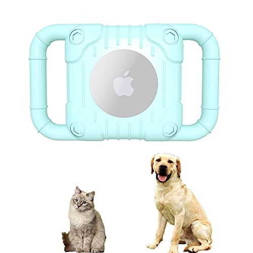 SJHY Airtag Funda Protectora de Silicona Compatible Collar protección para Perros Cáscara Accesorios Cachorros y Gatos Soporte Bucle Mascotas Rastreador GPS Ligero Suave,Bronce