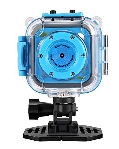 Kids fotocamera digitale impermeabile, Camking cd-bl 4,5cm schermo LCD digitale per bambini con wifi e video registratore