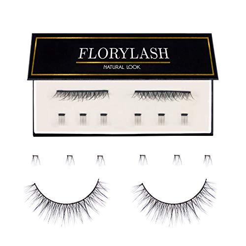 FLORYLASH | Natural Look - Magnetische Wimpern Natürlich - 3 Magnete - Künstliche Falsche Wiederverwendbare Natürliche - Magnet