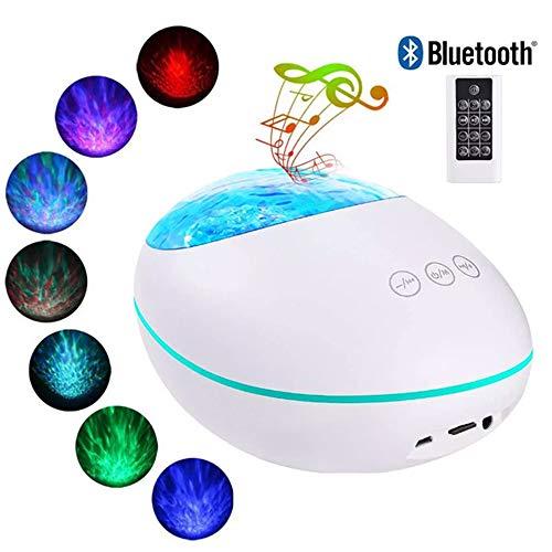 Preisvergleich Produktbild SHIEM LED Sternenlicht Projektor,  Rotierende Wasserwellen Projektionslampe,  Ferngesteuerte Nachtlichter,  Farbwechsel Musikspieler mit für Kinder Erwachsene Zimmer Dekoration
