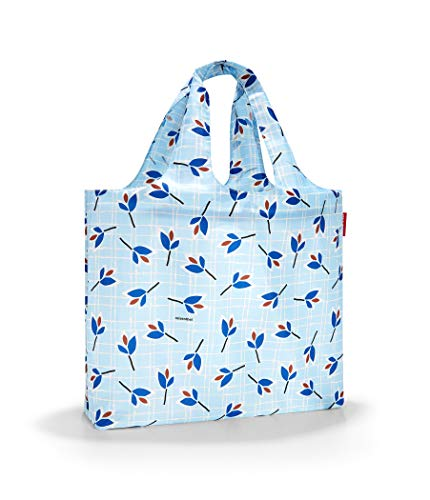 Reisenthel Mini Maxi beachbag Strandtasche, 62 cm, 40 Liter, Blue Leaves
