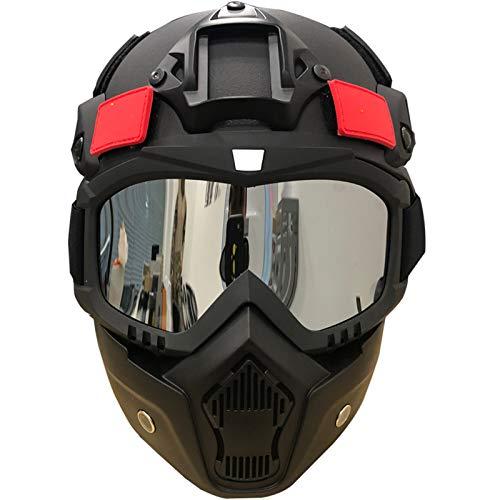 Kaliove Einstellbare Kunststoff-Helm, Tactical Jagd Helm, mit Schutzmaske, Geeignet für weiche Kugel Gewehr-Schießen-Sport im Freien, Radfahren, Jagd, Militär Fans.