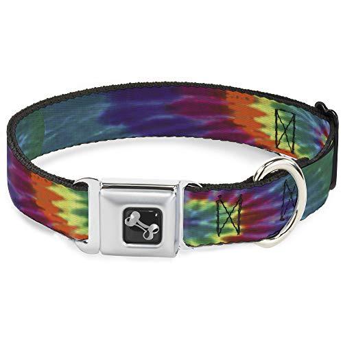 Buckle Down BD Tie Dye Hueso Collar de Perro, mediano/11–17'