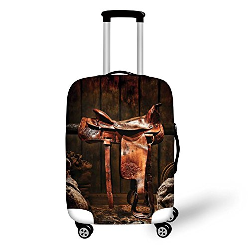 Travel Luggage Cover Suitcase Protector,Monument at Sunset Sky Landscape with Da