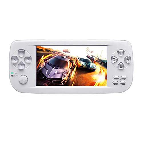 Gaoominy Neue 64 Bit 4,3 Zoll Eingebaute 3000 Spiele Pap K3 für CP1 / CP2 / / FC / NEO / GEO Format Spiele tragbar HD Handheld Video Spiel Konsole (Wei?)