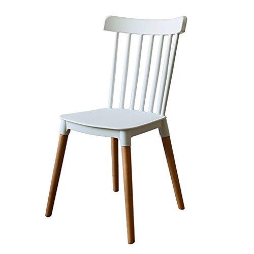GY Chair - - Chaise Moderne Nordique en Bois Massif, Salon, Bureau, Salle à Manger, Fauteuil Confortable (Taille 84X43X46 cm) /+-+/ (Couleur : Blanc)