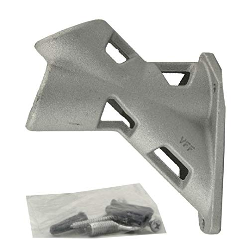 "Oversized Heavy Duty 2-Position House Mounted Flagpole Bracket for 1.25"" Dia. Pole - for Extra Wide Flagpoles - Made in USA"