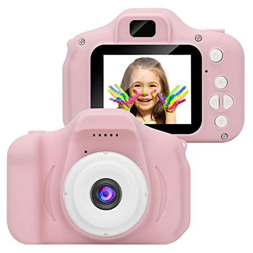 Kinderkamera Digitalkameras, APSONAR Mini Kinder Kamera mit 32 SD Karte, Videokamera, Geschenk für Mädchen und Jungen (Pink-13)