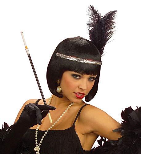 shoperama 20er Jahre Zigarettenspitze 34 cm lang schwarz Charleston Flapper Kostüm-Zubehör Damen The Roaring Twenties 20's