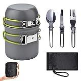 Kit da Cucina da Campeggio Parkarma Portatile Set di Pentole da Campeggio con borsa di sto...