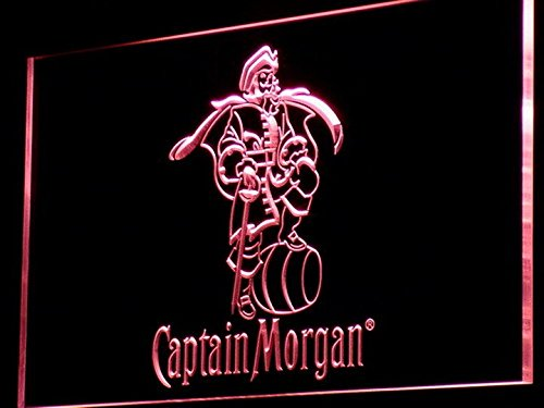 Captain Morgan Spiced Rum Bar LED Neon Light Sign Man Cave A138-R