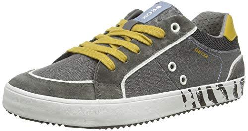 Geox J Alonisso Boy E, Zapatillas para Niños, Gris (Grey/Yellow C0030), 35 EU
