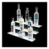 Soporte de tres niveles LED RGB para mostrar licores, licores, cerveza, vino, sidra y más...