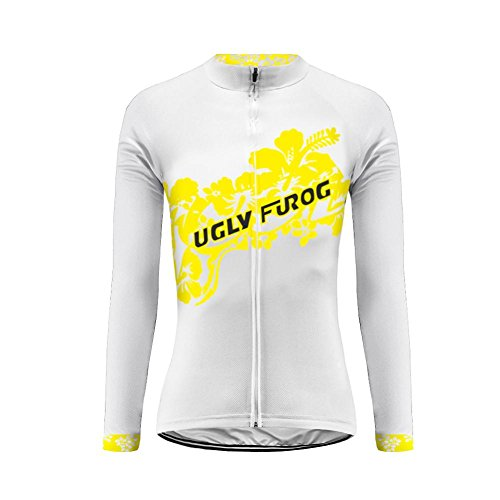Uglyfrog Radtrikot Frühling Damen Langarm Fahrradtrikot Gemütlich Fahrradbekleidung Haibike