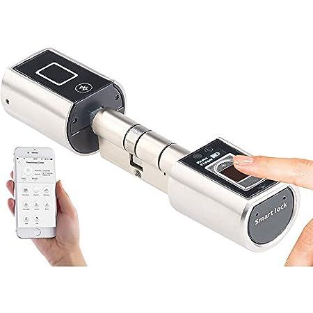 SOREX FLEX Elektronisches T/ürschloss Fingerabdruck /& Chip Zylinder Haust/ür Einfaches Elektrisches Schloss Smart T/ür/öffner Fingerprint RFID Lock l/ängenverstellbar Montage von Au/ßen