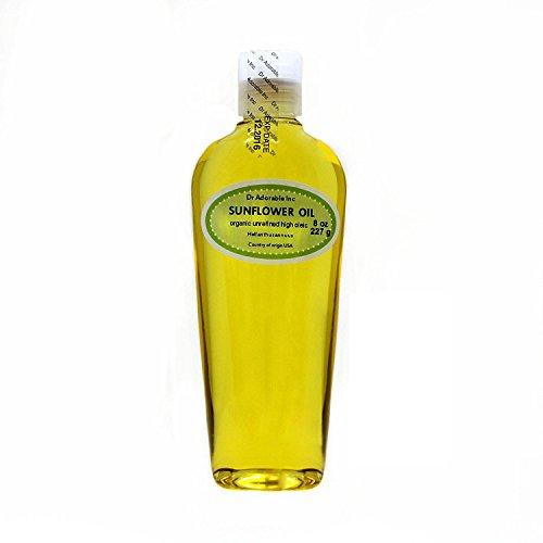 Aceite de girasol sin refinar, orgánico, 100% puro, 8 onzas