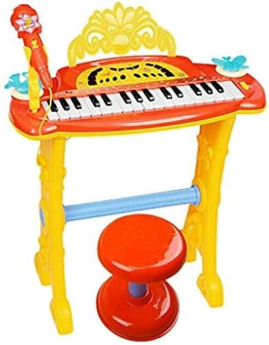 HXGL-Tastatur Klavier-Mikrofon-mädchen-Puzzlespiel-Musik-Früherziehung der Kinder (Farbe   Gelb)