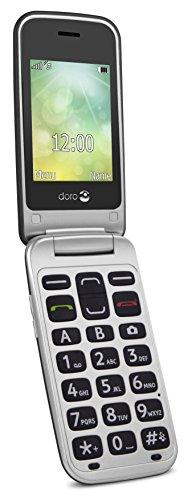 Doro 2424 GSM Mobiltelefon im eleganten Klappdesign graphit/silber