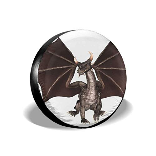 GOSMAO Dragon Fantasy Reptile Mythology Mon-ster FA-I-Rytale Cubierta Protectora para Llantas, para Ruedas, para SUV y Muchos vehículos de 15 Pulgadas