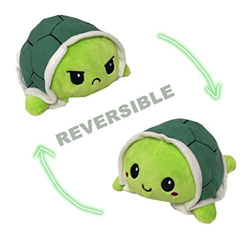 Geagodelia Plüsch Schildkröte Wenden Spielzeug Reversible Stimmungs Tier Kuscheltier Plüschtier Plüschfigur Kinderspielzeug Stimmungskuscheltiere Kinder Geschenk