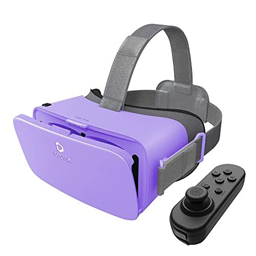 VR 3D Brille iPhone für Handy, Virtual Reality Headset Mit Bluetooth-Fernbedienung für 5,5–6,5 Zoll, Xiaomi Huawei Samsung