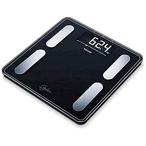 Beurer BF-400 Báscula Diagnóstica Gran Capacidad 200 Kg, Gran Plataforma 31 X 31 cm, Pantalla LCD Retroiluminada Grandes Dígitos 3.5 cm, Color Negro