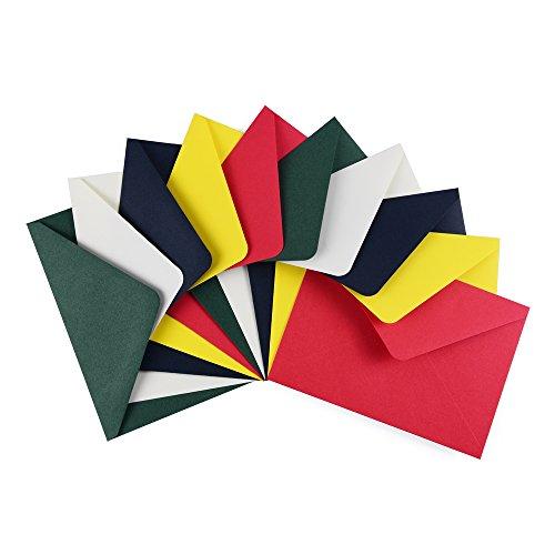 ewtshop® Farbige Briefumschläge Din C6, 50 Stück passend für DIN A6 Karten