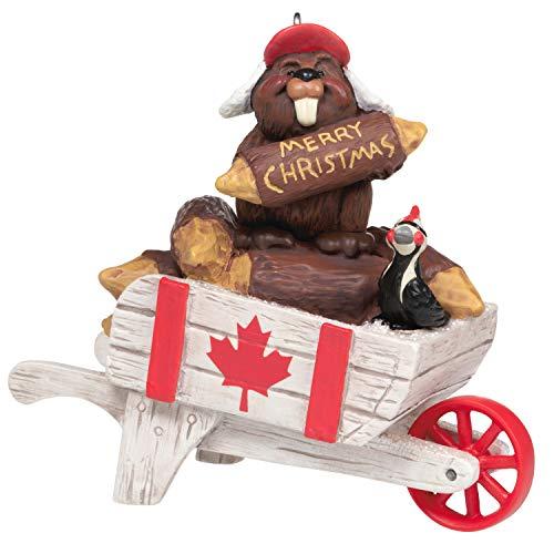Hallmark Keepsake Christmas Ornament 2020 Christmas in Canada Beaver on Wheelbarrow