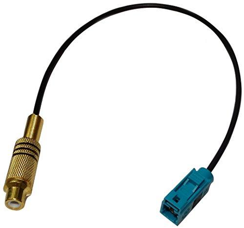 AERZETIX: Cable Adaptador Enchufe FAKRA Verde Hembra RCA Hembra Camara de Vision Trasera Video-in C11991